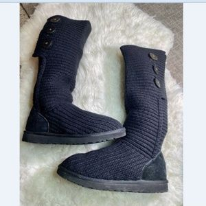 UGG Classic Cardy Knit Sweater Boots Women's 10